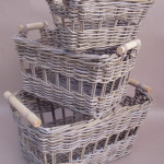 Rectangular Basket sets of 3