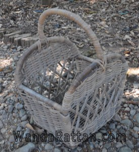 Wicker basket for occasional purposes