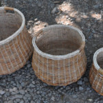 Wicker basket for kitchen, 1 set contains 3 pcs